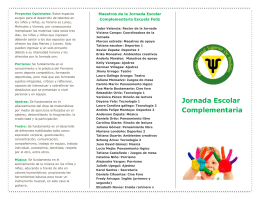 LA ESCUELA FELIZ (folleto)