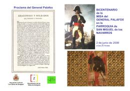 """080602 Misa Palafox folleto - asociación cultural """"los sitios de"""