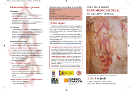 PATRIMONIO MUNDIAL 2, 3 y 4 de junio