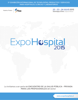 Folleto EH2015 - Expo Hospital 2015