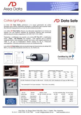 Folleto Cofres AD Data Safe