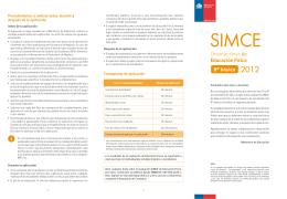 Folleto de Orientaciones Simce 2012 / Educación Física