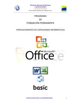 FOLLETO OFFICE basic - Dirección Nacional de Aduanas