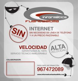 Folleto Servicios Internet y TelefoníaFolleto publicitario con las