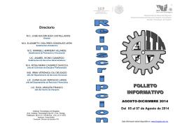 FOLLETO INFORMATIVO - Instituto Tecnológico de Nogales