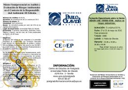 Folleto Seminario NORMA AENOR UNE 150.008 Analisis Riesgos