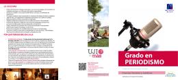 Grado en PERIODISMO - Universitat Jaume I de Castelló