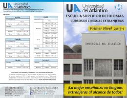 Primer Nivel 2015-1 - Universidad del Atlántico