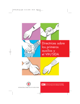 Directrices sobre los primeros auxilios y el VIH/SIDA