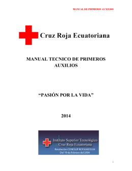manual tecnico de primeros auxilios - Instituto Superior Tecnológico