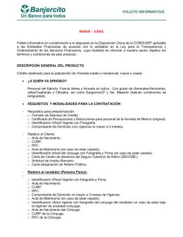 folleto informativo - Banco Nacional del Ejército Fuerza Aérea y