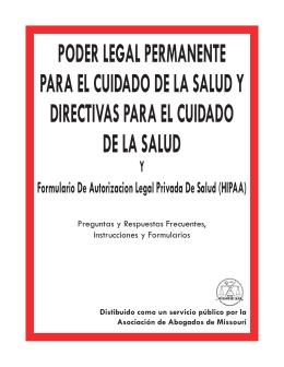poder legal permanente para el cuidado de la salud y