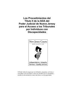 Los Procedimientos del Título II de la ADA del Poder Judicial de