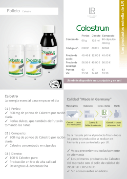 Descargar folleto Calostro - LR