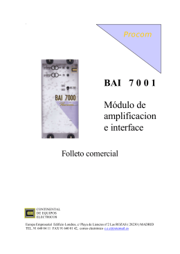 FOLLETO BAI 7001