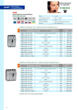 Interruptores automáticos Electromecánicos