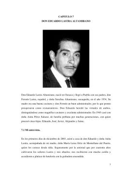 1 CAPITULO 7 DON EDUARDO LASTRA ALTAMIRANO Don