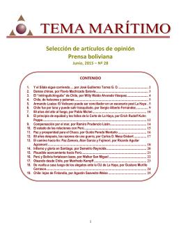 Dossier sobre el tema marítimo boliviano 06-2015