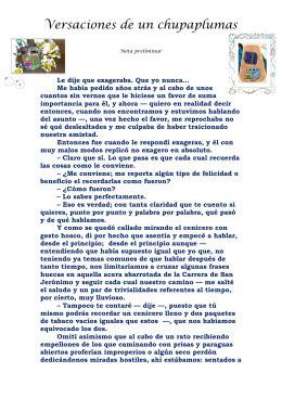 Versaciones de un chupaplumas - Para ver detalle véase el Sumario.