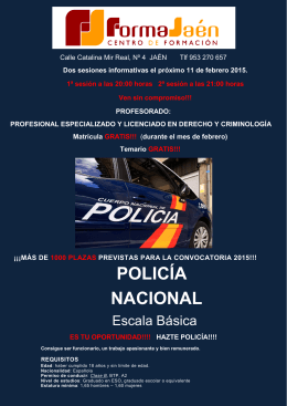 FOLLETO PUBLICIDAD CARTELERIA POLICIA NACIONAL AZUL