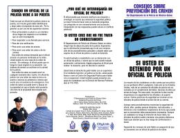 SI USTED ES DETENIDO POR UN OFICIAL DE POLICIA