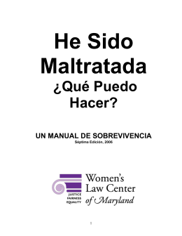 qué puedo hacer? - Women`s Law Center of Maryland