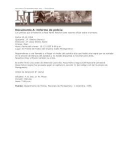 Documento A: Informe de policía