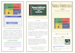 FOLLETO LIBRO - Normas Codificadas