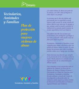 Vecindarios, Amistades y Familias Plan de protección para mujeres