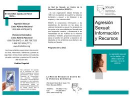 Agresión Sexual: Información y Recursos