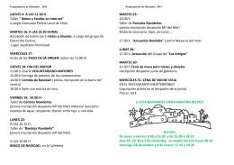 folleto Diciembre - Politica Social Yecla