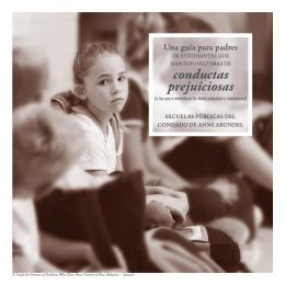 conductas prejuiciosas - Anne Arundel County Public Schools