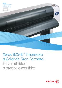 Folleto - Xerox 8254E™ Impresora a Color de Gran Formato (PDF