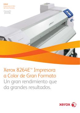 Folleto - Xerox 8264E™ Impresora a Color de Gran Formato (PDF
