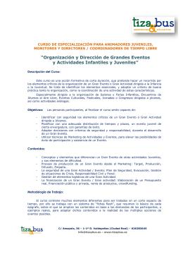 2014 - SEP - Curso Grandes Eventos Murcia