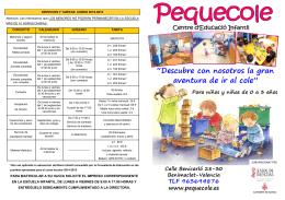FOLLETO INFORMATIVO curso 2015-2016