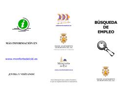 Folleto Empleo ADL - Ayuntamiento de Monforte del Cid