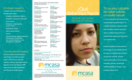 ¿Qué debemos hacer - Maryland Coalition Against Sexual Assault