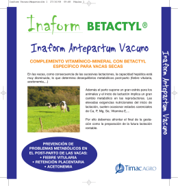 folleto inaform antepartum vacuno