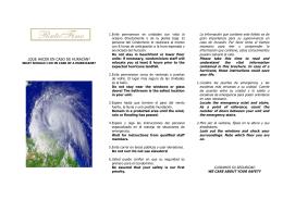 ¿que hacer en caso de huracán?