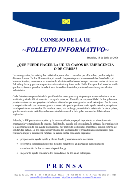 FOLLETO INFORMATIVO - Council of the European Union