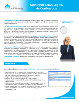 Infoviews e-Efficiency : Software de Gestión de Contenidos