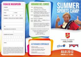 folleto summer plan - Colegios - Fomento de Centros de Enseñanza