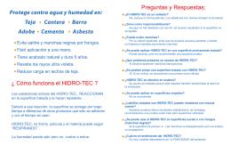 folleto hidro 2 - Quimica Milenio