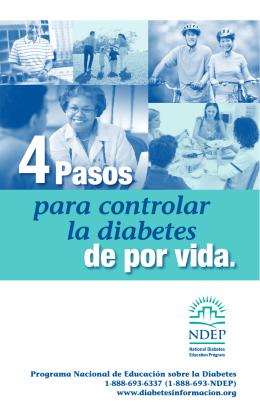 4 Pasos para controlar la diabetes de por vida.