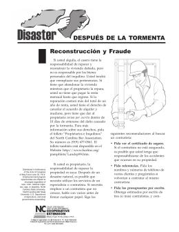 Disaster Recovery: Reconstrucción y Fraude