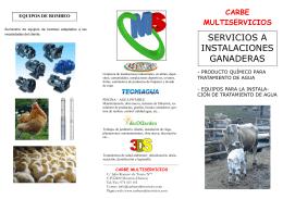 folleto granja - CARBE MULTISERVICIOS, SL
