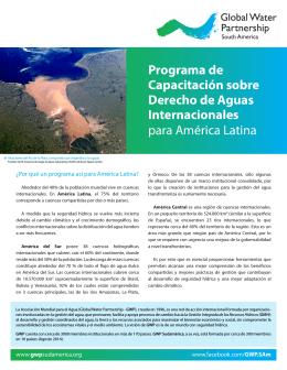 Programa de Capacitación sobre Derecho de Aguas