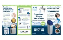 Folleto Gre Pure Water