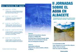 II JORNADAS SOBRE EL AGUA EN ALBACETE